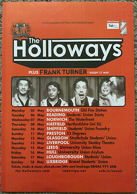 THE HOLLOWAYS - TOUR DATES 2008 Full Page UK Magazine Ad FRANK TURNER • 3.95£