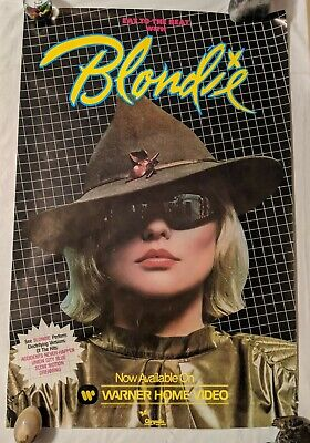 BLONDIE Eat To The Beat Record Store Only Promo Poster Vintage Original • 74.08£