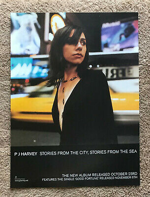 PJ HARVEY - STORIES FROM THE CITY 2000 Full Page UK Magazine Ad • 3.95£