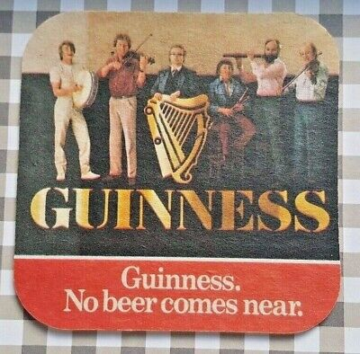 THE CHIEFTAINS Classic Guinness Beer Mat   • 4.95£