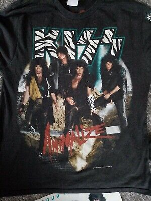 Kiss Memorabilia Animalize Tour Book And Tour Long Sleeved T Shirt Gene Simmons  • 10£