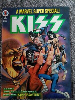Original Kiss Memorabilia  Marvel 1977 Comic With Poster. Rare. Mint Condition.  • 15.50£
