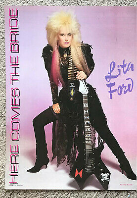 LITA FORD - 1988 Full Page Magazine Poster • 3.95£