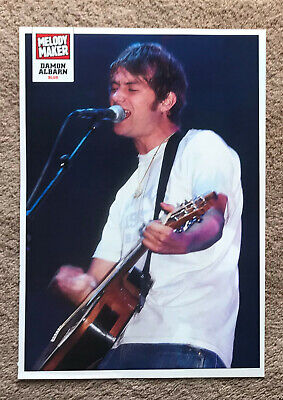 DAMON ALBARN - 2000 Full Page UK Magazine Poster BLUR • 3.95£