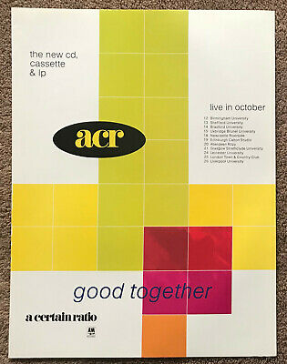 A CERTAIN RATIO - GOOD TOGETHER / TOUR DATES 1989 Full Page UK Magazine Ad • 3.95£