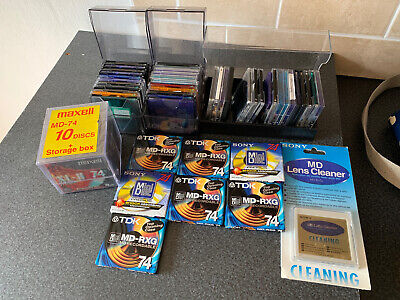 Mini Discs 17 New And 38 Used Plus New Lense Cleaner Disc • 26£