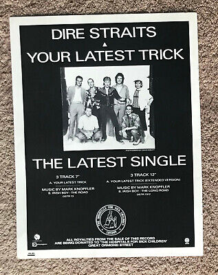 DIRE STRAITS - YOUR LATEST TRICK 1986 Full Page UK Magazine Ad • 3.95£