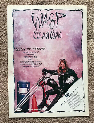 WASP - MEAN MAN 1989 Full Page UK Magazine Ad W.A.S.P. • 3.95£