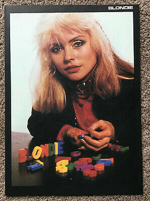 DEBBIE HARRY - 1982 Full Page UK Magazine Annual Poster BLONDIE • 3.95£