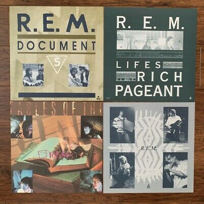 LOT Of 4 REM 12x12 Promo 2-Sided Flat  Poster Document Fables Pageant Eponymous  • 28.60£