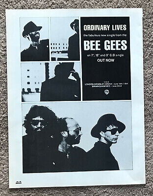 THE BEE GEES - ORDINARY LIVES 1989 Full Page UK Magazine Ad • 3.95£