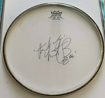 ROLLING STONES    -   CHARLIE WATTS  -  SIGNED  DRUMHEAD  10 Inch   UACC RD • 99.99£