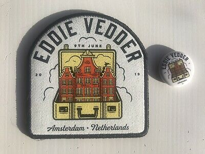 Eddie Vedder - Concert Patch And Badge - Amsterdam Night One - 9th June 2019 • 19.99£