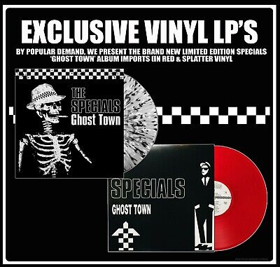 2tone Exclusive Ghost Town Vinyl Lp From The Specials Red & Splatter Designs • 30£