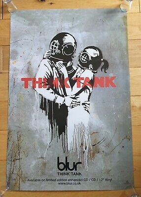Blur Think Tank Orignal Promo Poster 2003 Artwork By Banksy Ultra Rare  • 500£