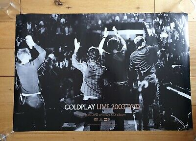 Coldplay Live 2003 Double Sided Record Company Promo Poster Ultra Rare  • 39.95£
