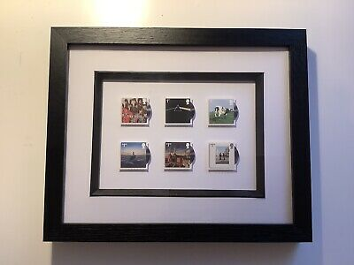 Framed Royal Mail Pink Floyd Special Edition Postage Stamps • 35£