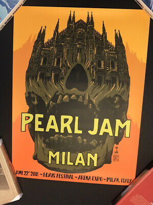 Pearl Jam Show Edition Concert Poster Milan, Italy 22 June 2018 • 64.99£
