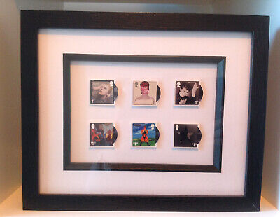 Framed Royal Mail David Bowie Special Edition Postage Stamps • 35£