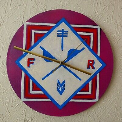 Frightened Rabbit.. Record Wall Clock..pop Rock..hand Painted  • 20.99£