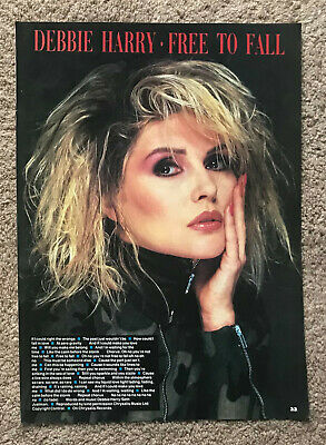 DEBBIE HARRY - FREE TO FALL 1987 Full Page UK Lyric Poster BLONDIE • 3.95£