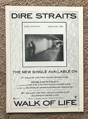 DIRE STRAITS - WALK OF LIFE 1986 Full Page UK Magazine Ad • 3.95£