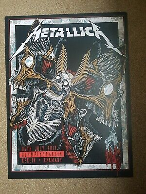 Metallica Official Tour Poster, Berlin, Germany, 2019 • 5£