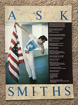 THE SMITHS - ASK 1986 Full Page UK Magazine Lyric Poster MORRISSEY • 3.95£