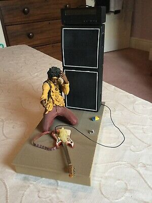 Jimi Hendrix 2004 Mcfarlane Toys Figure At Monterey Festival With Guitar & Amps • 20£