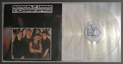 Live Triple-LP 1986 - Depeche Mode - A QUESTION OF TIME (3x CLEAR VINYL) • 185£