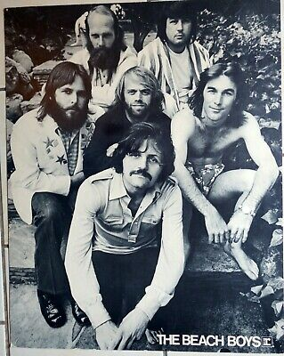 Beach Boys Promotional Poster On Card Stock B&W Group Shot • 13.71£