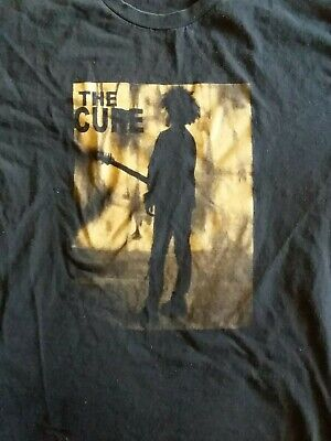 THE CURE Kid With Guitar Black T Shirt Size L • 15.01£