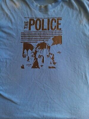 THE POLICE Blue T Shirt Size L • 14.31£