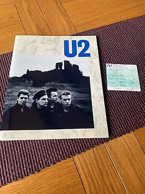 U2 The Unforgettable Fire World Wide Tour Programme And 1 Ticket 1984 • 30£