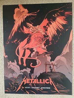 Metallica Official Tour Poster, Bucharest, Romania 2019 • 5£
