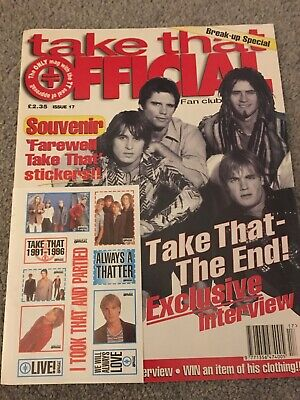 Take That Official Fan Club Magazine Issue 17 The Break Up Special • 25£