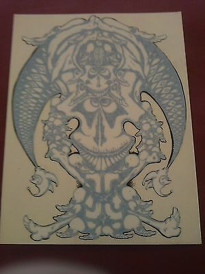 Grateful Dead BW Jester 4 3/4 X6 1/8  Window STICKER DECAL • 9.62£