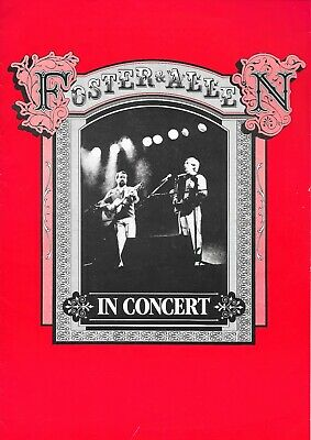 FOSTER And ALLEN Illustrated Concert Programme 1984 • 2.99£