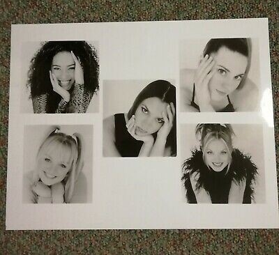 Spice Girls - Publicity Shot - Black And White 20x25cm Glossy Pic • 5.29£