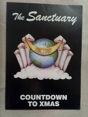 The Sanctuary Count Down To Christmas 1991 Rave Flyer • 6£