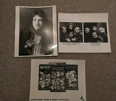 Vintage Official QUEEN Photo Bundle - Inc Promo And JOHN DEACON • 9.99£