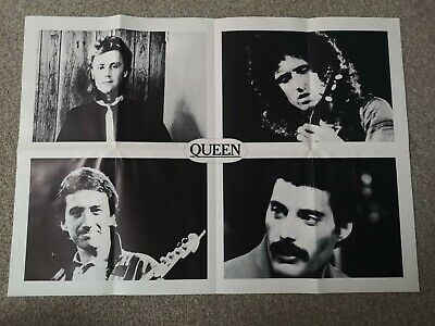 Official International QUEEN Fan Club Free Gift POSTER • 8.50£