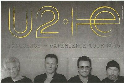 Very Rare Collectable U2 Innocence And Experience Tour 2015 Newspaper Advert • 17.90£