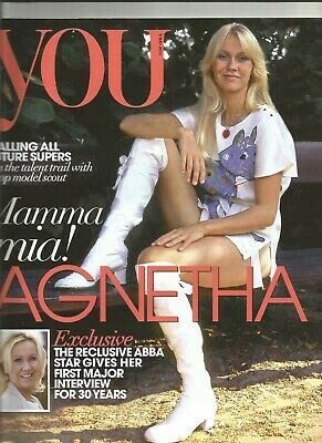 Rare Collectable Agnetha Faltskog Front Cover And Interview You Magazine 2013 • 17.40£
