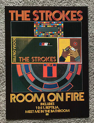 THE STROKES - ROOM ON FIRE 2004 Full Page UK Magazine Ad • 3.95£