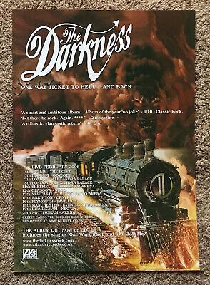 THE DARKNESS - ONE WAY TICKET / TOUR DATES 2006 Full Page UK Magazine Ad • 3.95£
