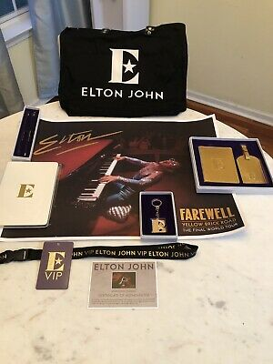 🆕 Elton John ⭐️ Farewell Yellow Brick Road Tour VIP Swag Bag Complete Set Of 11 • 23.60£