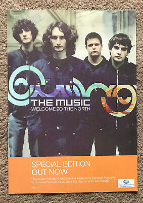THE MUSIC - WELCOME TO THE NORTH 2005 Full Page UK Magazine Ad • 3.95£