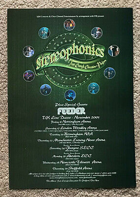 STEREOPHONICS - TOUR DATES 2001 Full Page UK Magazine Ad FEEDER • 3.95£