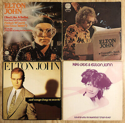 Elton John 3 Brazil Singles & One 4 Song EP PINBALL WIZARD CROCODILE ROCK • 25.03£